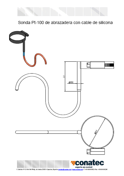 Silicon cable clamp