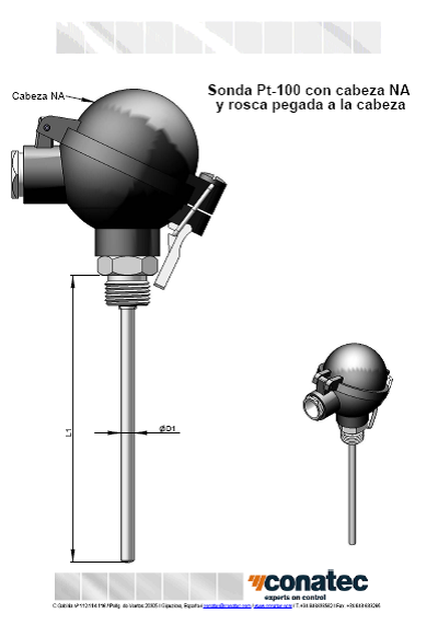 NA head with thread attached to the head
