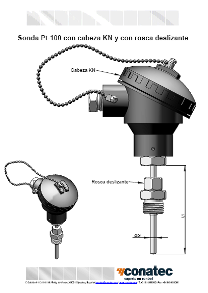 Probes with KN head and lead thread