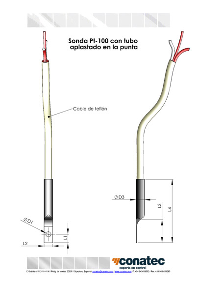 Part with Teflon cable