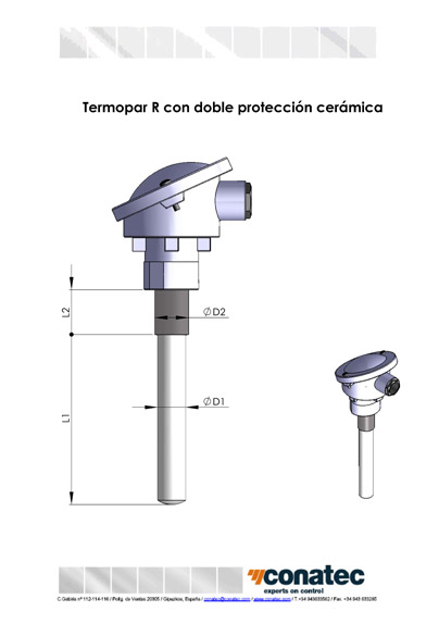 Probe with double ceramic protection