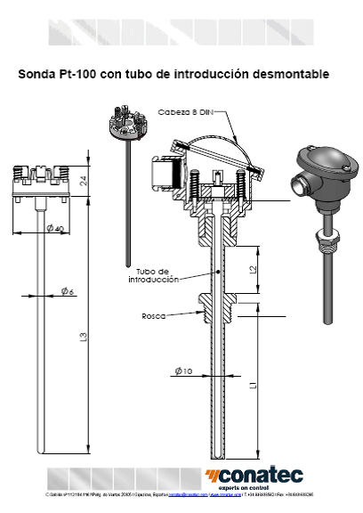 Sonde avec tube d'introduction