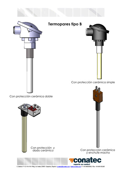 Thermocouples B tête